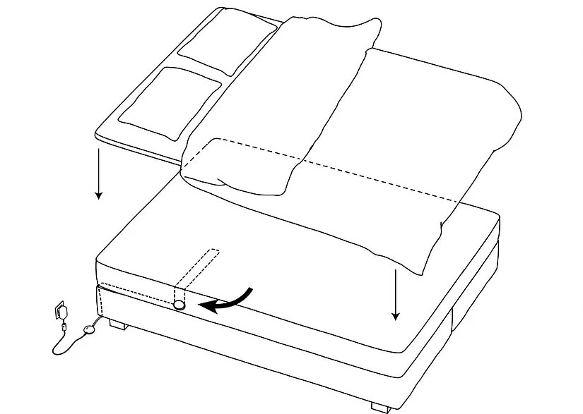 EMFIT QS PLACING IN DOUBLE BED.jpg Can I use the device in double bed with my partner