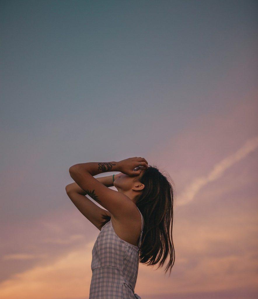 woman, model, pose